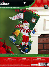 "Bucilla Ultimate Fan ~ 18"" Felt Christmas Stocking Kit #86504, Football Santa"