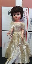 "Vintage Uneeda Dollikin Bride Doll NOT Multi Jointed  20"" 2S"
