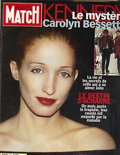 CAROLYN BESSETTE KENNEDY French Paris Match Magazine 8/26/99 MYSTERY