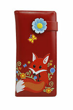UK New Womans Girls LARGE Size Fox print Ladies Purse Clutch Wallet