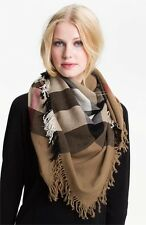 Burberry Check Merino Wool Scarf  House Check $395.00