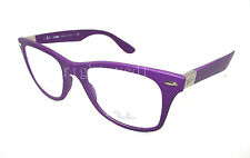 Authentic RAY-BAN LiteForce Wayfarer Violet Eyeglasses RX 7034 - 5443 *NEW* 52mm