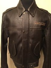 Yamaha Royal Star Men's Motorcycle Leather Jacket Brown Color Size L
