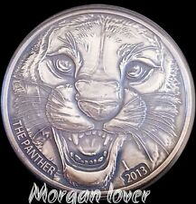 2013 Ivory Coast * BLACK PANTHER  * 1 OZ SILVER COIN 1000 FRANK . RARE
