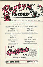 Varsity, Technical O.B, Linwood  2 May 1959 Canterbury NZ Rugby Programme