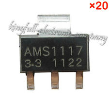 20Pcs AMS1117-3.3 V 0.8A Power Supply IC Linear Regulator LDO SOT-223 New Good