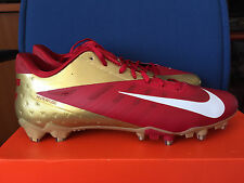 New Nike Vapor Talon Elite Low TD Football Cleats Red & Gold NFL SF 49ers sz 15