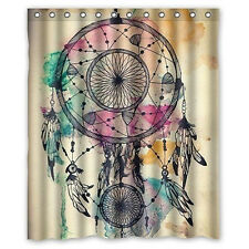 Retro Colorful Dream Catcher Feathers Bathroom Decor Shower Curtain Stunning