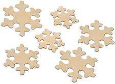 9 Eiskristalle aus Holz Schneeflocken Gr.64-93mm sortiert NEU