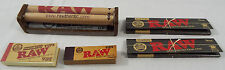 Raw Brand 5 Piece Set Roller 2 Black King Slim Papers 2 Different Tip Styles #39
