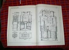 STEAMSHIP & WAR VESSELS PUMPING ENGINE PATENT. BLAKE, NEW YORK, USA. 1895