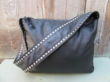 PRADA MIU MIU STUDDED LEATHER HOBO BAG PURSE TOTE HANDBAG SATCHEL