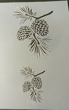 Pine Cones Mylar Reusable Stencil Airbrush Painting Art Craft DIY