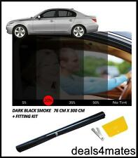 CAR HOME WINDOW TINT FILM TINTING DARK BLACK  SMOKE 20% 76cm x 3M DIY KIT