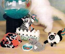 CURIOUS KITTEN COASTERS CAT PLASTIC CANVAS PATTERN INSTRUCTIONS