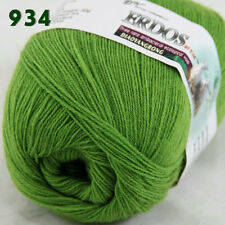 Sale 1ballx50g LACE Crochet Acrylic Wool Cashmere hand knitting Yarn Neon green