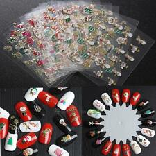12pcs Beauty Christmas Collection Set 3D Nail Art Sticker Decal Tips Decoration