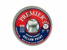 CROSMAN PREMIER HOLLOW POINT cal. 4.5 mm .177 500 pcs. SUPERIOR ACCURACY 7.9 gr