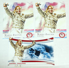 2012 Topps Olympics Cards 3-Card Lot Fencing -All Mariel Zagunis 2 Base & Insert