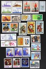 D919R CANADA 1976 Postage Stamps Year Set Collection of 30 Stamps Mint NH