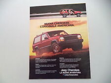 advertising Pubblicità 1985 JEEP CHEROKEE CHIEF