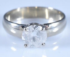1.04 ct. Round Solitaire Genuine Diamond Engagement Ring White Gold Size 6.75