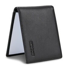 HISCOW Bifold Driving License Holder Black Genuine Leather with Front Card Slot