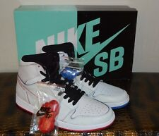 NIKE AIR JORDAN 1 SB LANCE MOUNTAIN  RETRO HI BRED ROYAL JETER BLUE Mens 11