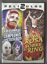 MIL MASCARAS 2 MOVIES NEW DVD VIDEO UNA ROSA SOBRE EL RING & CAMPEONES JUSTICIER