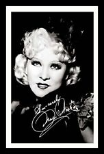MAE WEST AUTOGRAPHED SIGNED & FRAMED PP POSTER PHOTO
