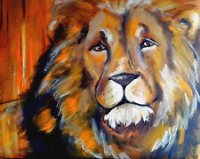 contememporay original abstract Cecil the lion art painting