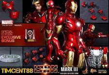 Ready! Hot Toys Sideshow Iron Man Mark 3 III Diecast Special Exclusive Bonus