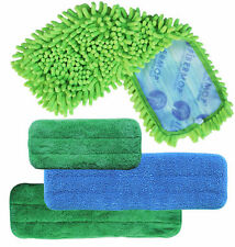 Fibermop 3 Piece Replacement Microfiber Mop Pad Set + 1 Free Bonus Pad US Seller