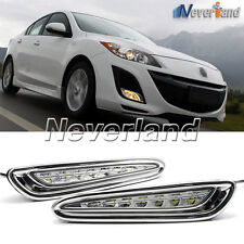 Car LED Daytime Running Lights For Mazda 3 Axela Fog Lamp DRL 2010 11 2012 2013