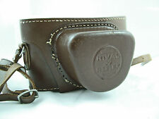 RARE VINTAGE PRAKTICA RIVAL REFLEX BROWN LEATHER CAMERA CASE WITH STRAP