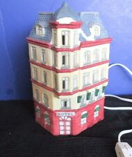 Holiday Expressions 1992~Lighted Ceramic HOTEL Christmas Village House~Working