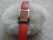 Skagen of Denmark Ladies Quartz Watch with a Red Leather Band
