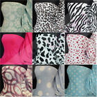 Printed micro fleece fabric washable ultra soft material