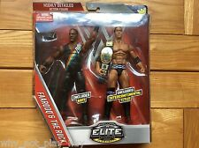 Wwe Ringside Collectibles exclusivo Faarooq & la roca Elite Figura Correa Nuevo