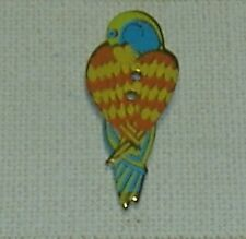 Button – Parrot - 32mm - Retired Laurel Burch Enamel On Metal