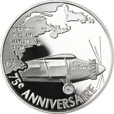 "France 1,5 Euro 2002 Silver Proof Coin ""First Atlantic flight"" Charles Lindbergh"