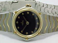 EBEL SPORTS WAVE LADIES 18K GOLD BEZEL AND STAINLESS STEEL MODEL