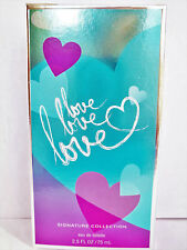 Bath Body Works LOVE LOVE LOVE EDT, 2.5 oz., NEW
