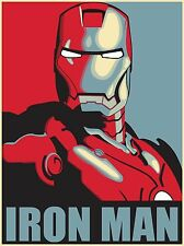 "IRONMAN Marvel Avengers Fan Art Silk Wall huge Poster 12x18"" MV4"