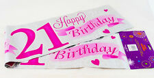 21st Birthday Banner Girls Extra Large Jumbo Big Banners Pink Party Decoration