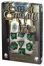 Q-workshop 7 Dice Set of Black & Green Call of Cthulhu SCTH21