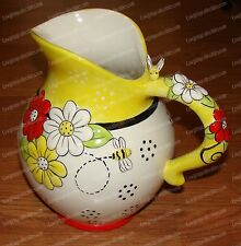 45684 - 76 oz. Water, Tea Pitcher (To BEE or not to BEE Collection) 3D, Ceramic