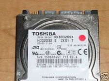 "Toshiba MK8032GSX (HDD2D32 S ZK01 T) 010 A0/AS111G 80gb 2.5"" Sata Hard Drive"