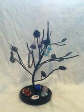 Mothers Day Black Iron Metal Earring Display Tree Jewelry Stand Trinket Organize