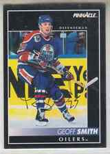 Autographed 92/93 Pinnacle Geoff Smith - Oilers